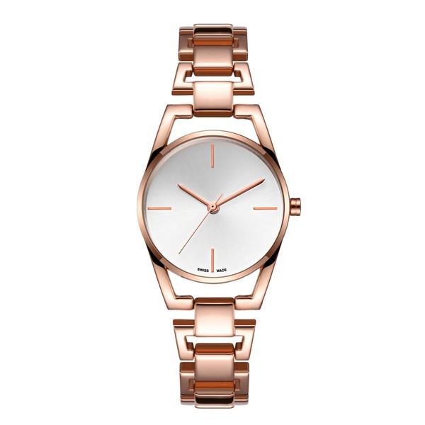2019 Nuevas ventas calientes Relojes de cuarzo de acero para mujer Relojes de pulsera ocasionales noble hembra mesa china relojes baratos al por mayor