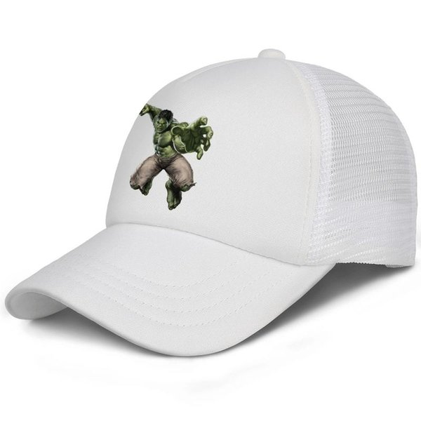 The Incredible Hulk Jumping fist kids baseball caps Casual Teen baseball cap Pigment white cap cool hats hats