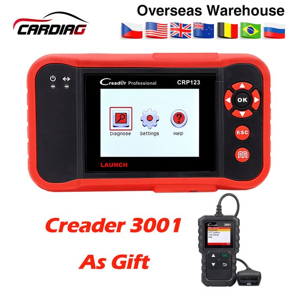 2019 Top selling Launch CRP123 Update Online LAUNCH X431 Creader CRP123 ABS, SRS, Transmission and Engine Code Scanner DHL free