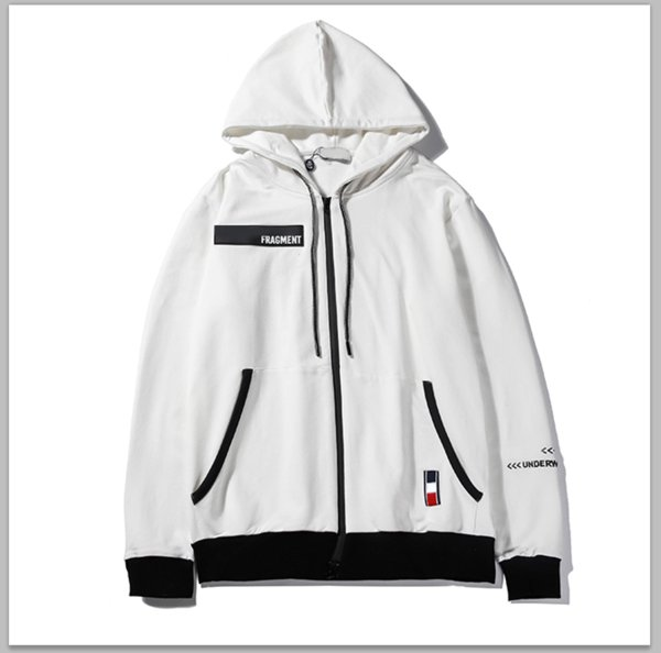 Marka Ceketler Erkek Tasarımcı Fermuar Tişörtü Hoodies Nakış Harfler Baskı Moda Sokak Stil Spor Saf Renk High-end B100013L