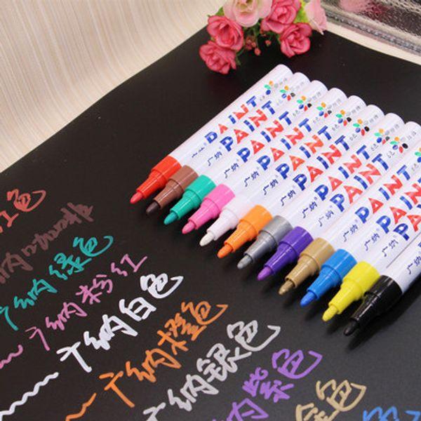 12 palos pintura pluma arañazos neumáticos cuidado de automóviles de pintura de reparación de artículos de papelería de graffiti rotulador