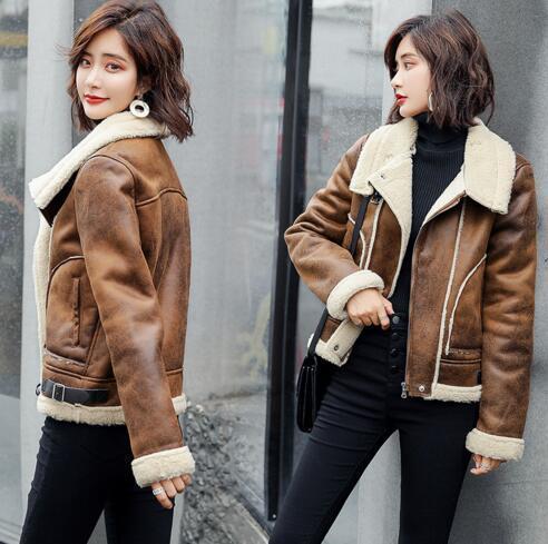 Primavera y otoño Período 2019 Nueva chaqueta de manga larga para mujer Slim-fit versátil color sólido abrigo chaqueta de moda temperamento