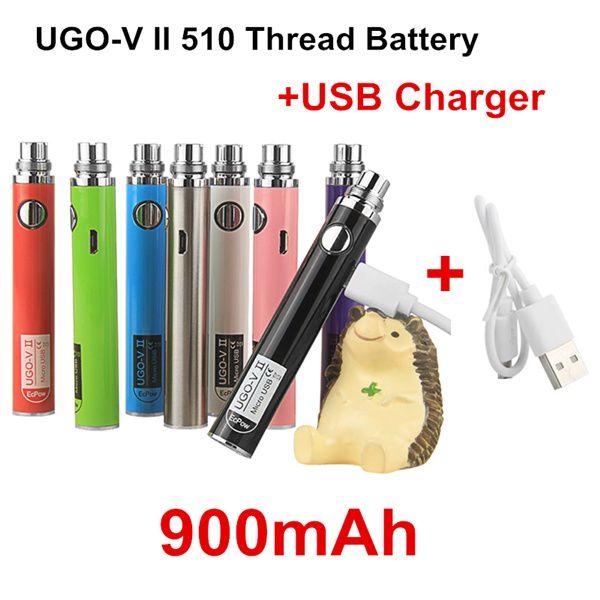 Authentic UGO V II 900mAh + USB Charger
