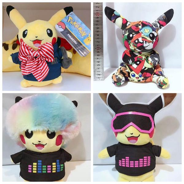 25cm más nuevos Pikachu de peluche de juguete creativo de la música de animación muñecas Pikachu Pikachu 4 estilos juguetes para niños de regalo de Navidad