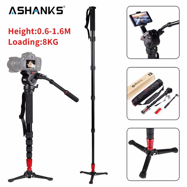 monopod video JIEYANG JY-0506 Aluminum Professional Monopod Video tripod for camera with Tripods Head Carry Bag Free Shipping JY0506