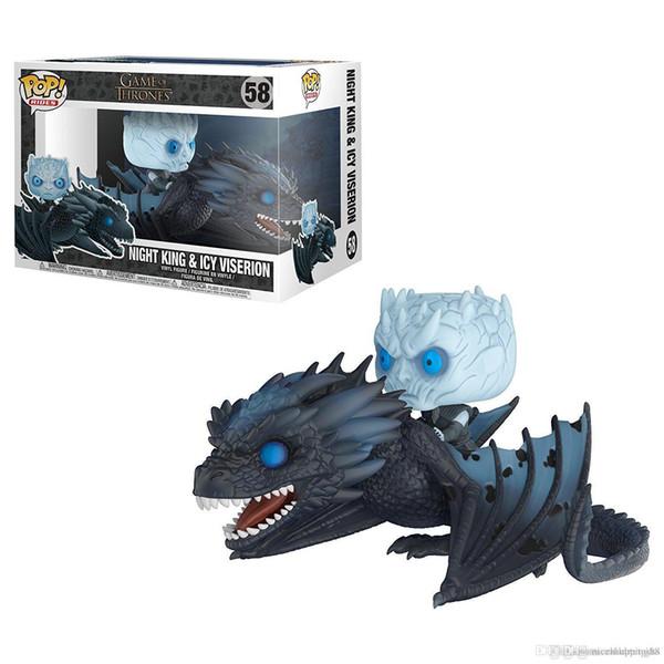 Produtos de Vendas Bravo Funko POP Jogo De T Captain Spaulding Daenerys Dragon Action Figure POP Rides Figura de Ação de Vinil presente da ordem da mistura