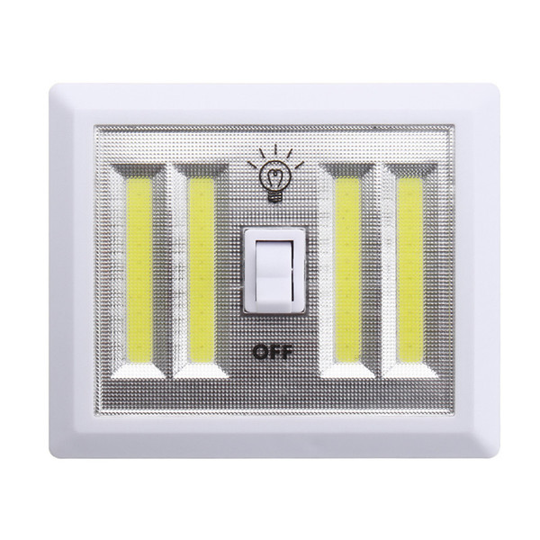 top popular Portable Led Night light Battery Operated 4 COB LED Panels Manual Switch Light Indoor Light Mount in Closets Bedroom Cabinet Shelf 2019
