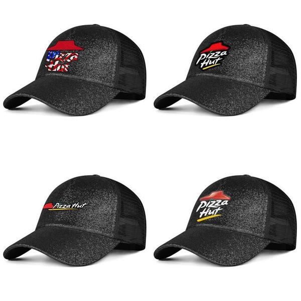 Cappelli da viaggio estivi per cappelli da donna lavati con cappello da uomo nero con logo Pizza Hut