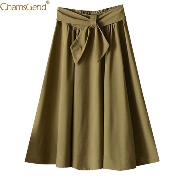 Summer Skirts Womens Skirts Womens Plus Size Knee Length Summer Polyester PolyesterWith Belt A-line School Skirt Casual May