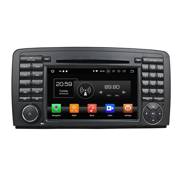 """4GB RAM 64GB ROM PX5 Octa Core 2 din 7"""" Android 8.0 Car DVD Radio GPS for Mercedes Benz R-Class W251 W280 W300 W320 W350 W500 Mirror-link"""