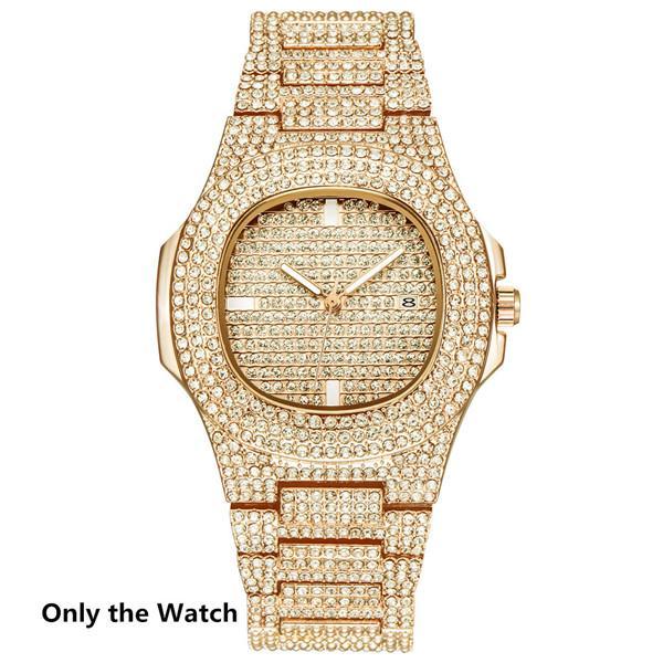 Sólo reloj de oro
