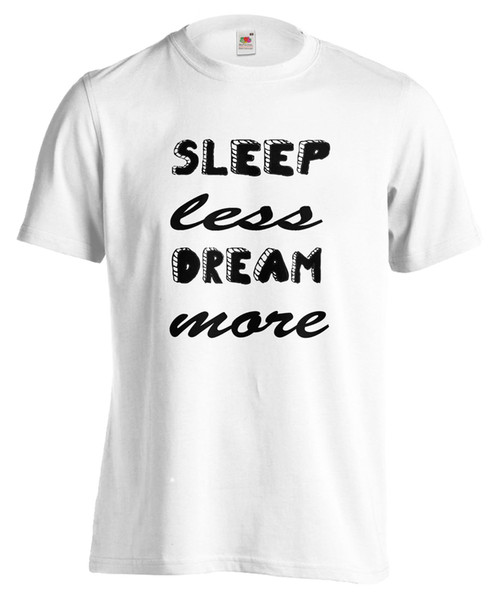 T-SHIRT SLEEP MOINS DREAM PLUS maglietta 100% cotone cool tendance regalo uomo
