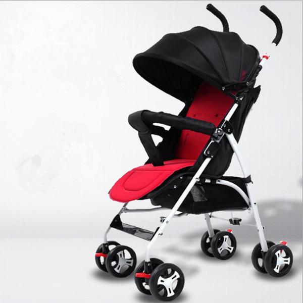 Leve Carrinhos de Bebê portátil dobrável bebê Carrinho de transporte Trolley Kinderwagen Multifunction Stroller portador Cart