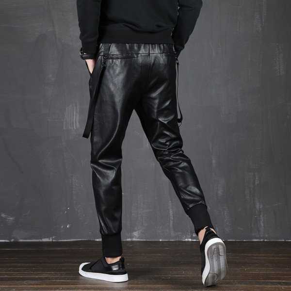 2020 favorable price bright n colour 2019 Men In Leather Pants Elastic Tapes Of Casual Men'S Fashion Of The  Motorcycle Pants Hip Hop From Merrylily, $55.81 | DHgate.Com