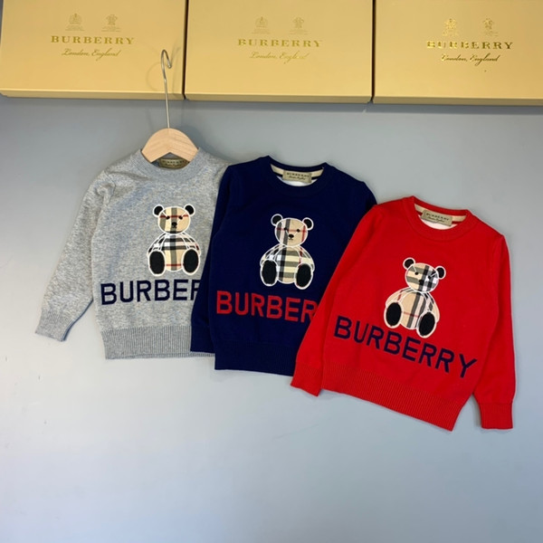 Hot Sale Boy Sweater 2019 Wool Knitted Pullover Winter Sweaters For Girls Children Clothes Top 0919