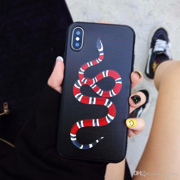 Promozione 3D Emboss Tiger testa serpente tpu cassa del telefono mobile per iphone x 6 6 s 6 plus 7 7 plus 8 8 plus x xs xr xs max moda coppia caso