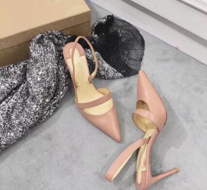 Novos sapatos de salto alto moda para 2019 com fundos pontas sensuais