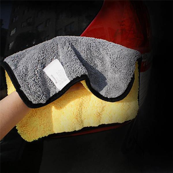 1Pc 30cmx30/60cm 38*45cm Car Washing Towel Microfiber Water Absorb Cloth Wax Polishing Cleaning Care