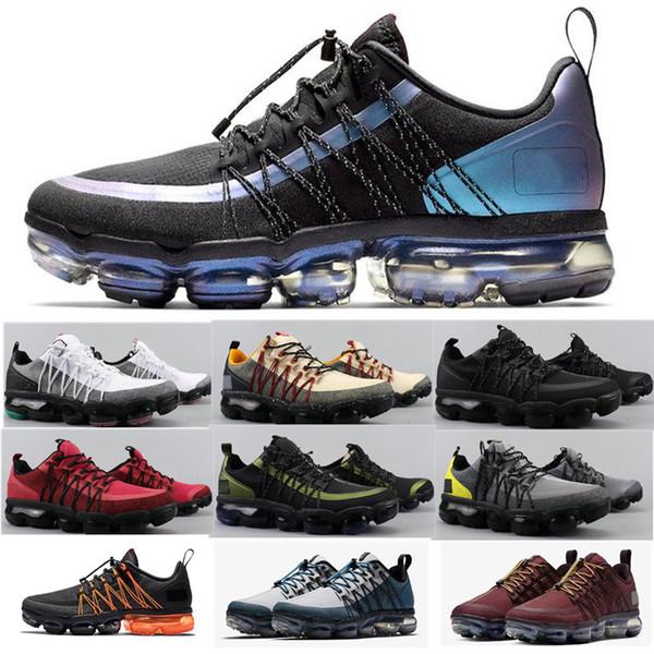 2019 New Run UTILITY chaussures de course pour hommes Throwback Future triple blanc noir RÉFLÉCHISSANT Moyen Olive Burgundy Crush chaussures de sport pour hommes