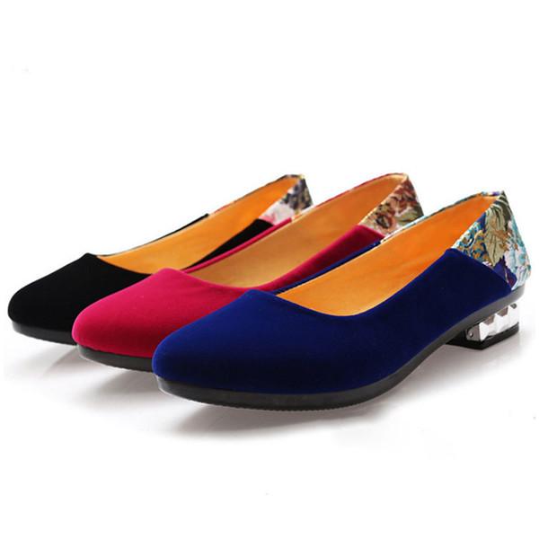 Designer Dress Shoes Fashion Ladies Office Tacchi Bassi Tacchi a punta Donne Tacco quadrato Tacchi di cristallo Vestito per le donne