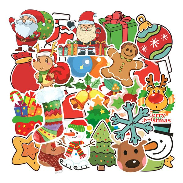 Christmas Vinyl Decals.2019 Stickers Pack Christmas Designs Vinyl Decals Diy Decorations Or Gifts For Laptop Skateboard Car Luggage Motorcycle Bicycle From Supersticker