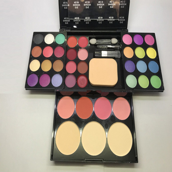 39 Farben Make-up-Paletten 24 Lidschatten-Palette 8 Lipgloss 4 Rouge 3 Puder Multifunktionales Lidschatten-Make-up