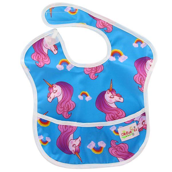 Ohbabyka Bebek Kız Erkek Su Geçirmez Superbib Baberos Bebes Çocuklar Besleme ve Yeme Önlükler ile Cep Ayarlanabilir Burp Giysileri