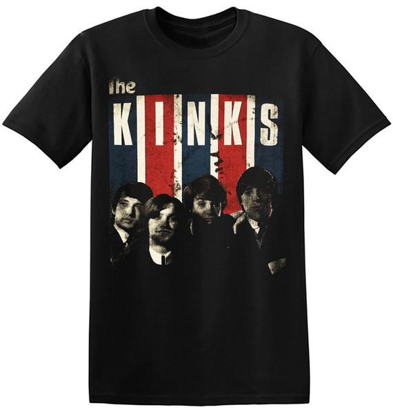 Los Kinks camiseta de la vendimia Inglés Rock New Graphic Print Tee Shirts 1-A-010 O-Cuello adolescentes Camisetas