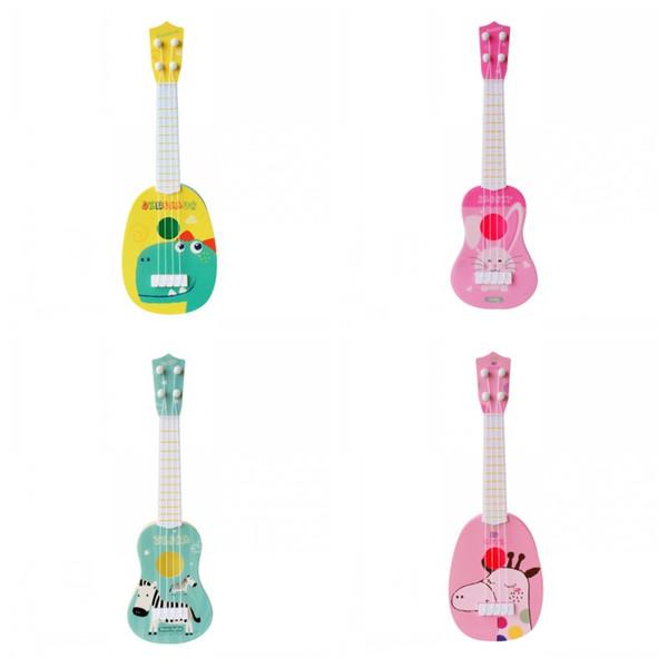 Simulation Guitare Bébé Éducation Précoce Musique Jouets Mini Quatre Cordes Peut Jouer Des Couleurs Mélanger Impression de Bande Dessinée 6 5lx F1