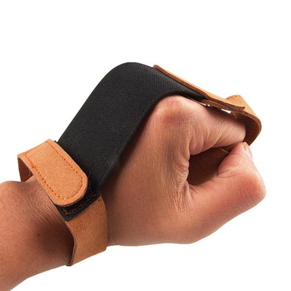 Tiro con l'arco Guanti da dito Tiro con l'arco Proteggi guanto 3 Dita Tirare l'arco arrow Guanti in pelle per arco Arrow