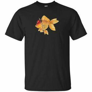 Japaner Kingyo Tätowierungs-T-Shirt Goldfisch Hannya Irezumi BlaWholesale S 2XL