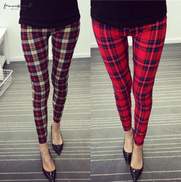 Gedruckt Leggings Frauen Gothic Leggins Plaiddruck Legging Blumen-elastische Taillen-Super Soft Stretchy Gamaschen Push Up