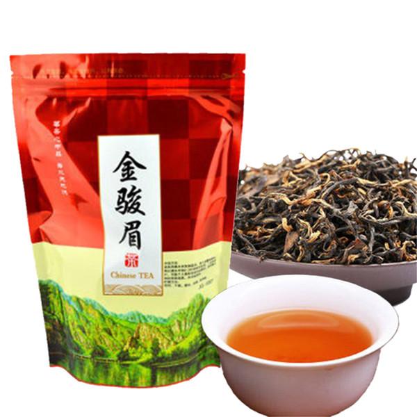top popular Hot sales 250g Chinese Organic Black Tea Wuyi Jinjunmei Red Tea Health Care New Cooked Tea Green Food Sealing strip packaging 2020