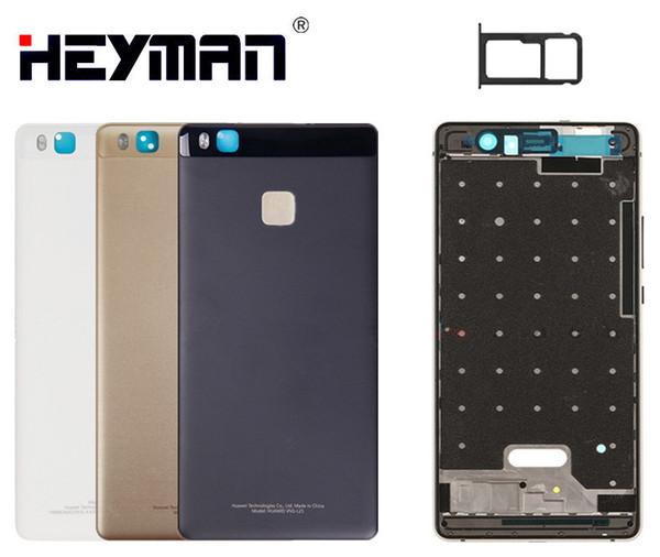 Housing for Huawei P9 Lite VNS-L21/VNS-L31 Middle Front Frame Housing Bezel Holder Frame Back Cover Case door LCD