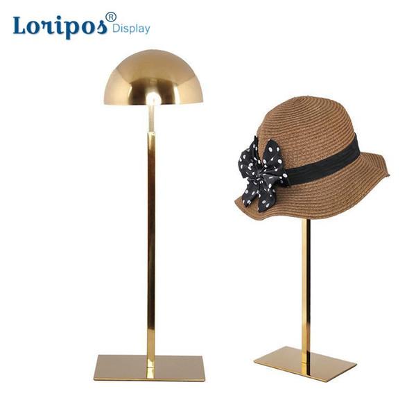 Masa Şapka Raf Mağaza Vitrin Sahne Kap Asılı Braketi Masası Peruk Vitrin Metal Şapka Ekran Standı Raf