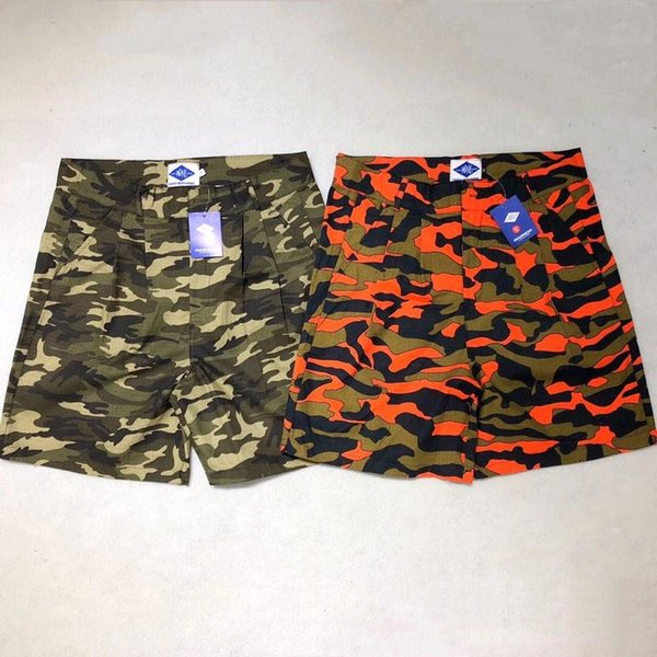UK American street casual skateboard boy brand shorts men soft breathable quick-drying button down shortsell five pants