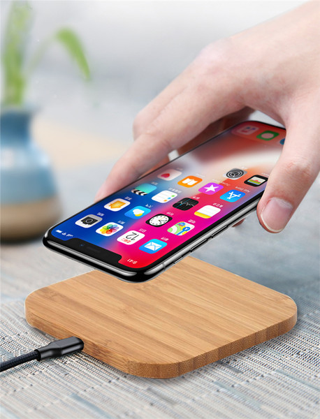 10W Fast QI Wireless Charger Wood Wireless Charging Pad Cell Phone Charger For Samsung Galaxy Note 9 S9 For iPhone 8 X XS XR Huawei P30 Pro