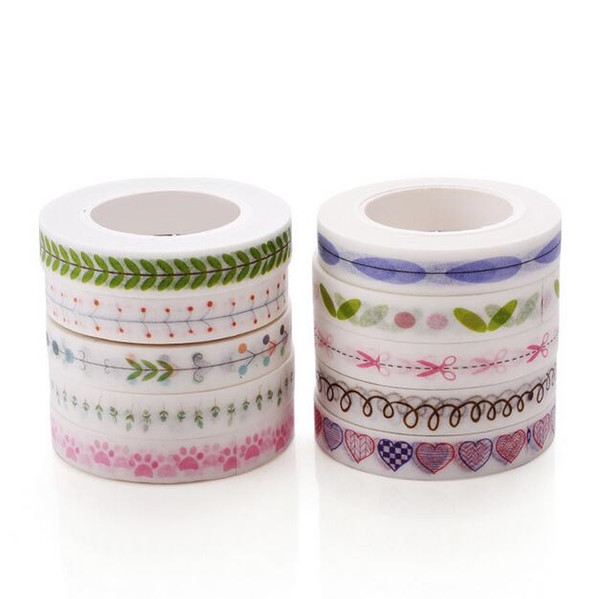 best selling Creative Kawaii Masking Tape Cute Washi Tape Decorative Adhesive Tape Kids DIY Scrapbooking Diary Photos Albums Office Supply 2016