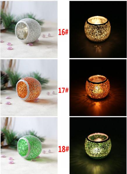 Mittelstücke Für Valentinstag Hochzeit Dekoration Kerze Schiff Kristall Mosaik Glas Kerzenhalter Kerzenhalter Laterne Nicht Kerze -p