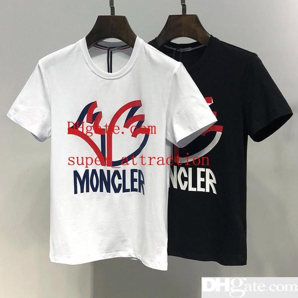 Estate nuovi uomini maglietta moda manica corta t-shirt estate t-shirt uomo casual t-shirt alta qualità top Europa e in america camicia estiva D2883