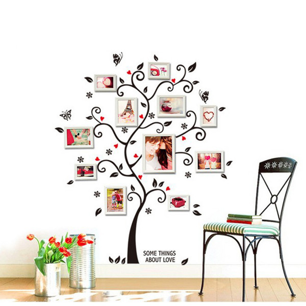 Colorful 3D DIY Photo Tree PVC Wall Decals/Adhesive Family Wall Stickers Mural Art Home Decor