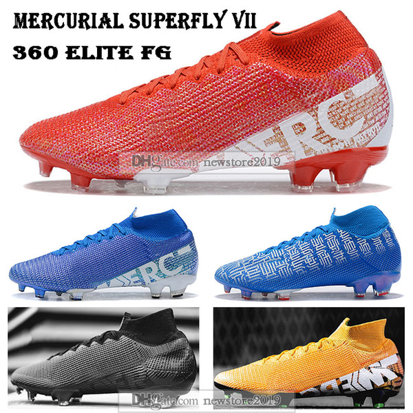 New Mens High Tops Football Boots Victory Mercurial Superfly VII 360 Elite FG Soccer Shoes ACC Superfly 13 Soccer Cleats