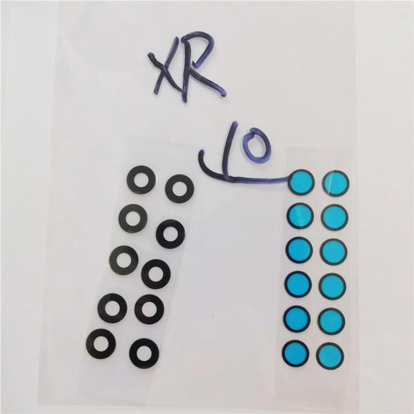 10sets / lot Back Camera Glass per iPhone X XS XSM XR Rear Cam Lens Cover Anello 3M Sticker Adesivo Parti di ricambio