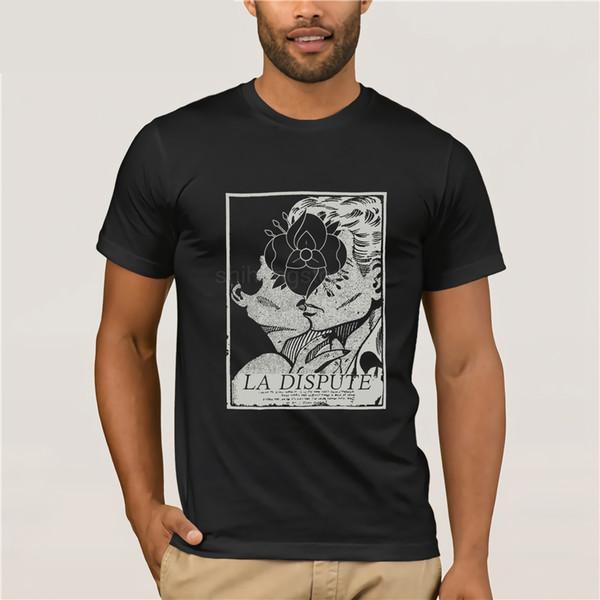 Venta 100% la camiseta del algodón La Dispute hombres'; S Bitter Fruit camiseta X - Large Azul Hombres Tops Crew vintage corbata