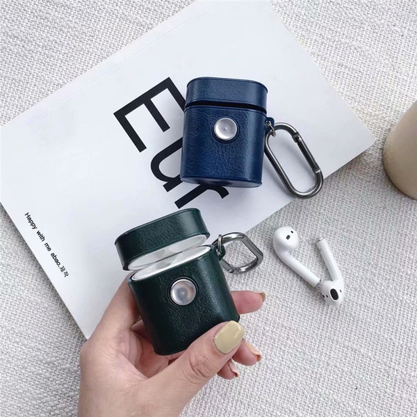 For AirPods Cases Leather Gyro Wireless Eardphone Cover for Apple iPhone Bluetooth Headphone Storage Box Gifts Wholesale DHL
