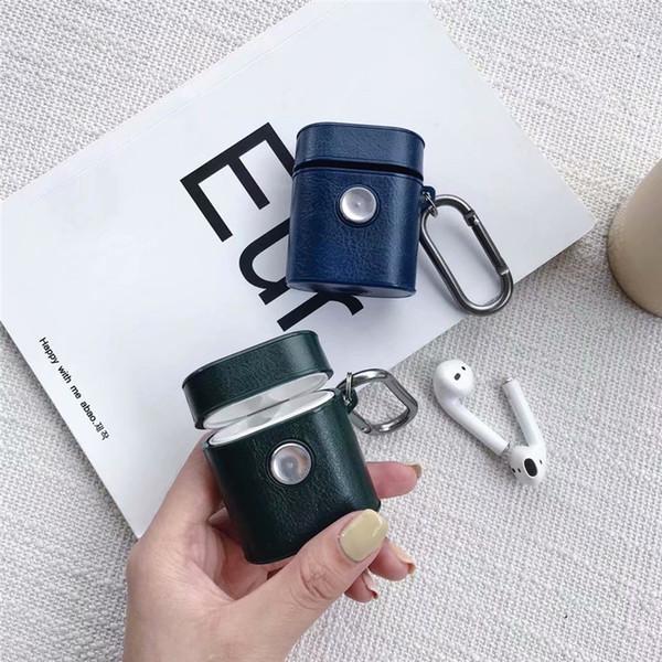Für AirPods Fälle Leder Gyro Wireless Eardphone Cover für Apple iPhone Bluetooth Kopfhörer Aufbewahrungsbox Geschenke Großhandel DHL