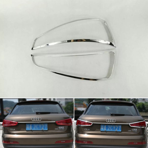 ABS Chrome Tail Light Lamp Cover Trim For Audi Q3 2013-2016