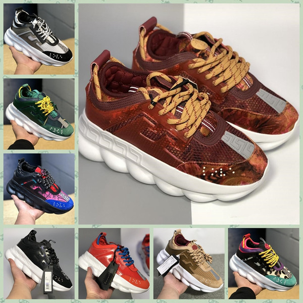 VCR01A Top Quality CHAINS REACTIONS Designer Shoes Mens Womens 2019 New Fashion District Medusa LUX Chaussures De Homme Femme Size36-45