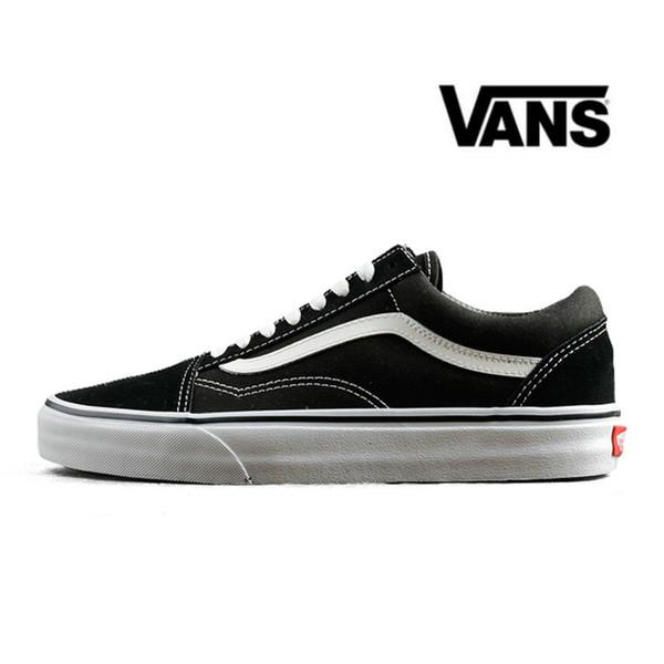 d078b9e17182 VANS Old Skool Black White Skateboard Classic Canvas Casual Skate Shoes  zapatillas de deporte Womens Mens Vans Sneakers Trainers 36-44