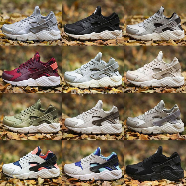 box with Newest Huarache I Running Shoes For Men Women,Green White Black Rose Gold Sneakers Triple Huaraches 1 Sports Shoes